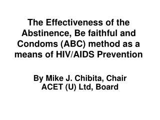 By Mike J. Chibita, Chair ACET (U) Ltd, Board