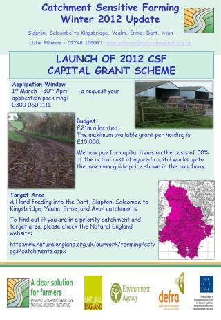 Catchment Sensitive Farming   Winter 2012 Update