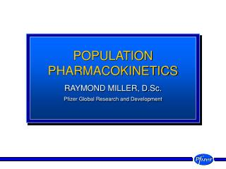 POPULATION PHARMACOKINETICS