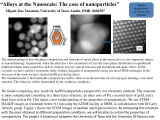 """Alloys at the Nanoscale: The case of nanoparticles"""