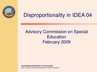 Advisory Commission on Special Education February 2009