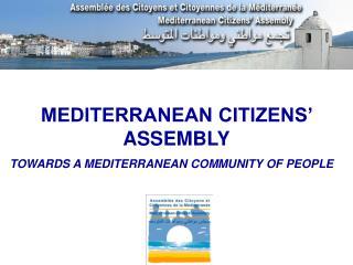 MEDITERRANEAN CITIZENS' ASSEMBLY