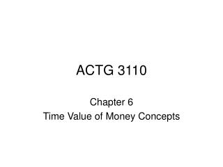 ACTG 3110