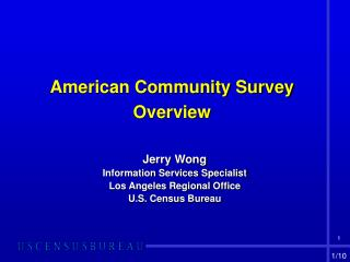 American Community Survey    Overview