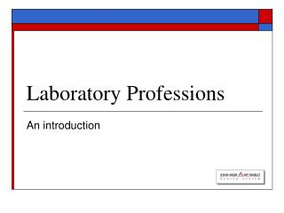 Laboratory Professions