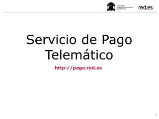 Servicio de Pago Telemático
