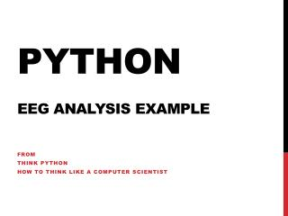 Python EEG Analysis Example