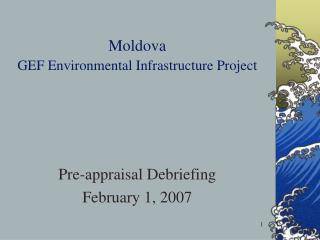 Moldova GEF Environmental Infrastructure Project