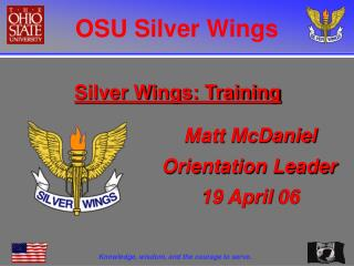 Silver Wings: Training