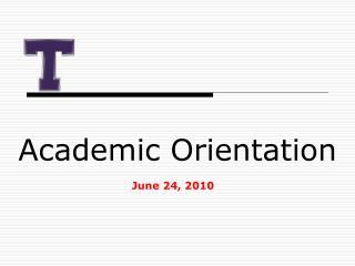 Academic Orientation