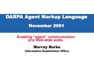 DARPA Agent Markup Language November 2001