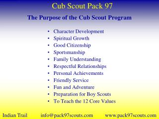 The Purpose of the Cub Scout Program