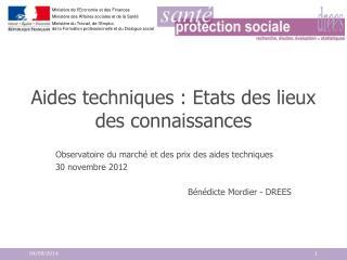 Aides techniques : Etats des lieux des connaissances