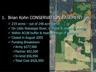 1.  Brian Kohn CONSERVATION EASEMENT  (#1)