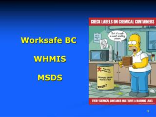 Worksafe  BC  WHMIS  MSDS