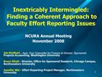 Inextricably Intermingled:  Finding a Coherent Approach to Faculty Effort Reporting Issues