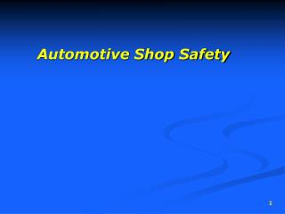 Automotive Shop Safety R.  Bortignon
