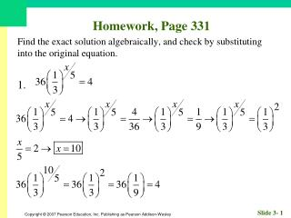 Homework, Page 331