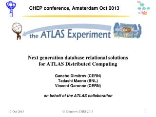 CHEP conference, Amsterdam Oct 2013
