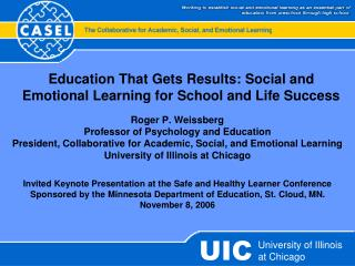 Education That Gets Results: Social and Emotional Learning for School and Life Success