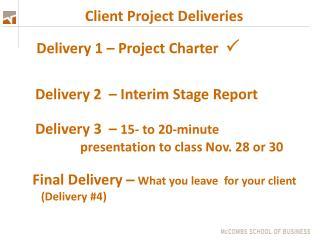 Client Project Deliveries