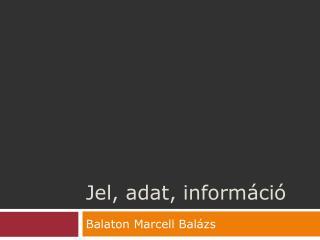 Jel, adat, információ