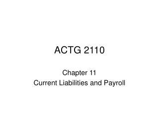 ACTG 2110