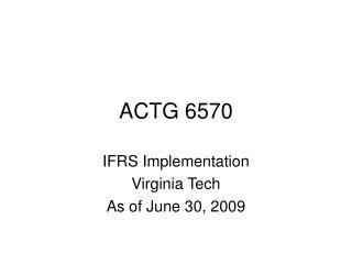 ACTG 6570