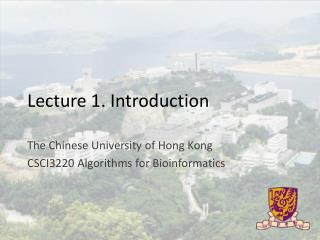 Lecture 1. Introduction