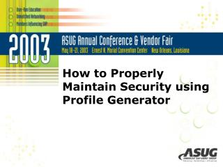 How to Properly Maintain Security using Profile Generator