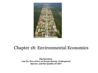 Chapter 18: Environmental Economics