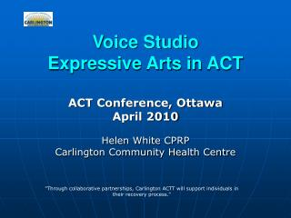 Voice Studio Expressive Arts in ACT