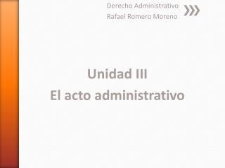 Derecho Administrativo Rafael Romero Moreno
