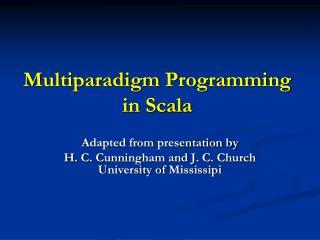Multiparadigm Programming in Scala