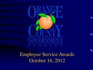 Employee Service Awards October 16, 2012