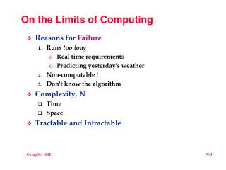 On the Limits of Computing