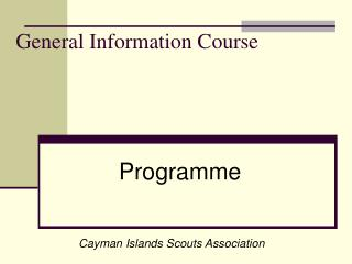 General Information Course
