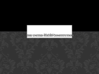 Amendments of the United States Constitution