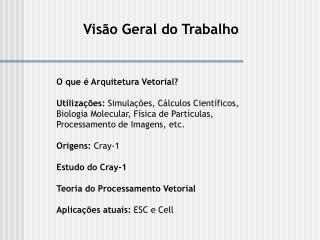 O que é Arquitetura Vetorial?