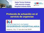 Protocolo de actuaci n en el servicio de urgencias