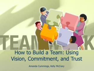 How to Build a Team: Using Vision, Commitment, and Trust