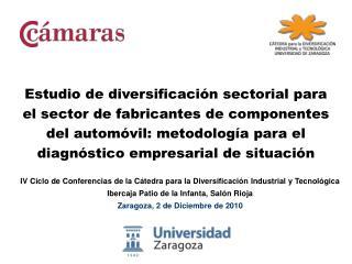 IV Ciclo de Conferencias de la C tedra para la Diversificaci n Industrial y Tecnol gica Ibercaja Patio de la Infanta, Sa