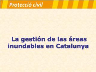La gestión de las áreas inundables en Catalunya