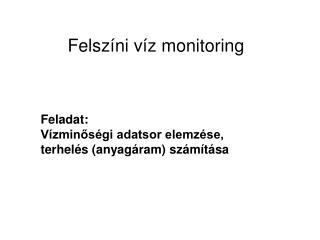 Felszíni víz monitoring