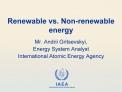 Renewable vs. Non-renewable energy