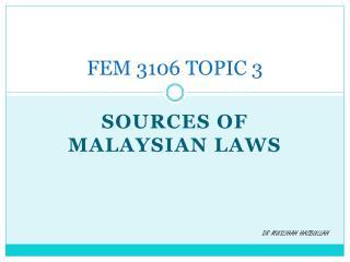 FEM 3106 TOPIC 3