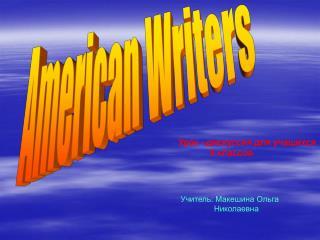 American Writers