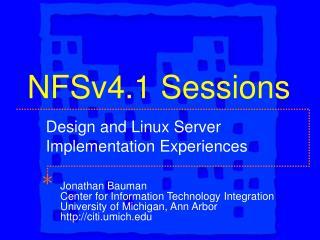 NFSv4.1 Sessions