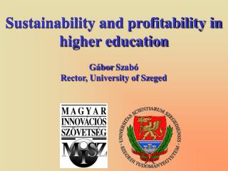 Sustainability and profitability in higher education