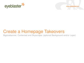 Definition of a Homepage Takeovers